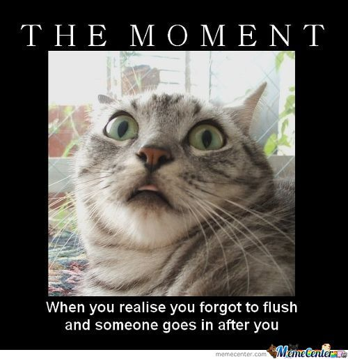 The Moment When You Realise