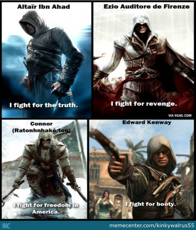 The Motivation For Assassin's Creed Characters :d