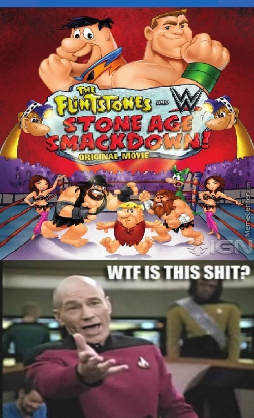 The Next Wwe Movie'll Be With The Jetsons , With Tom & Jerry Or With Barney The Dinosaur
