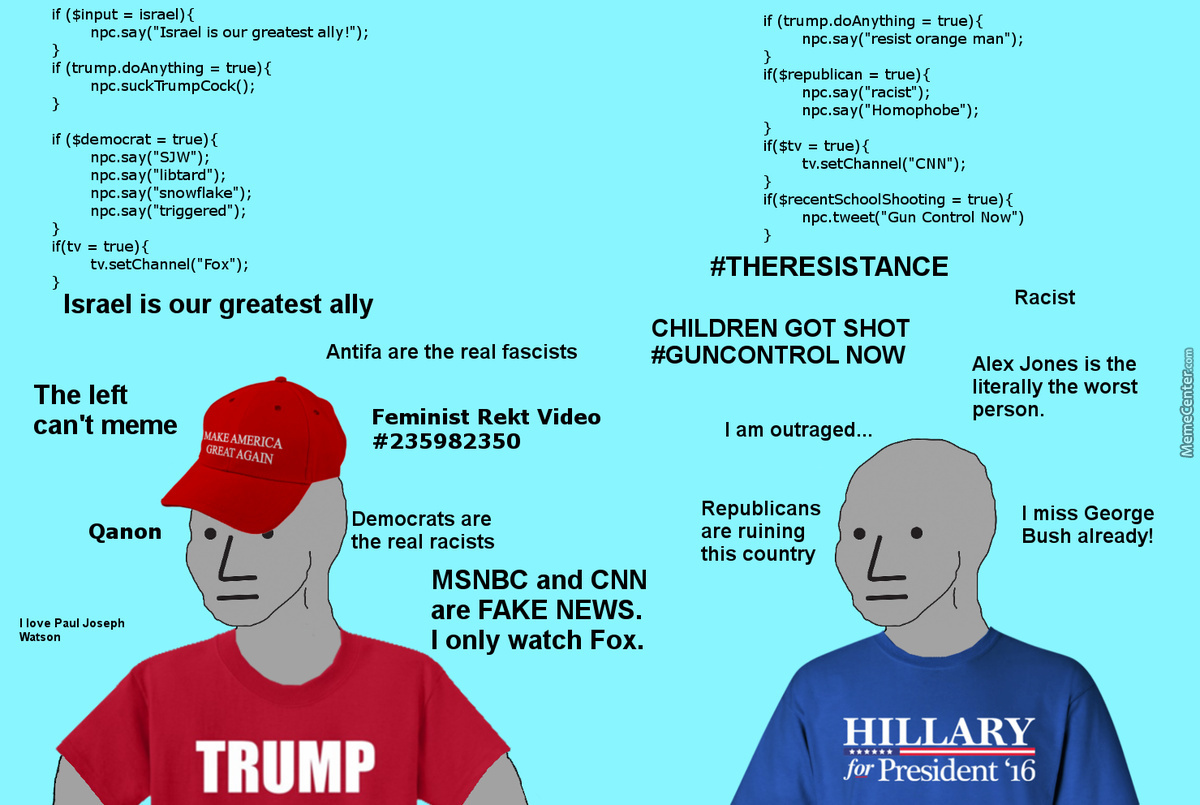 The Npc Horseshoe Theory Of Mainstream Opinions By La Venganza