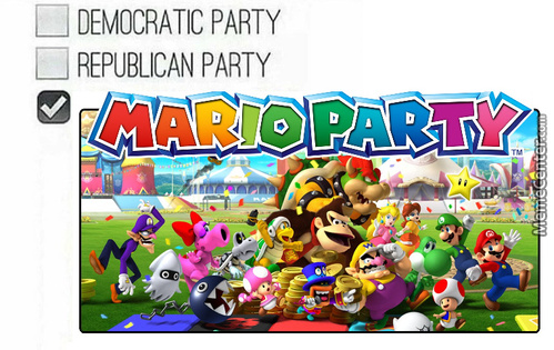 The Only Political Party I Affiliate With