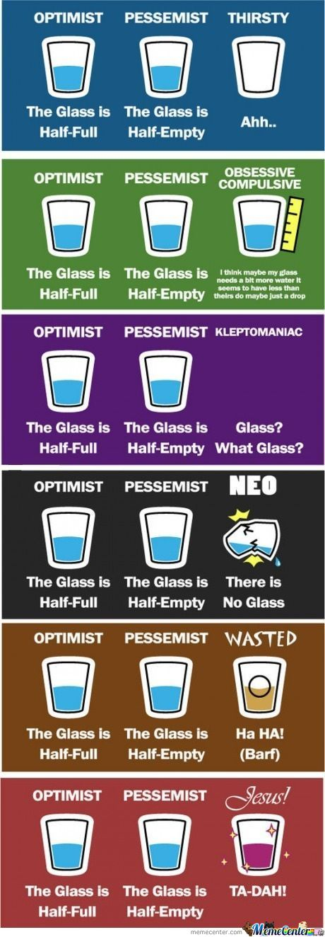 The Optimist, He Pessimist, And The Extras