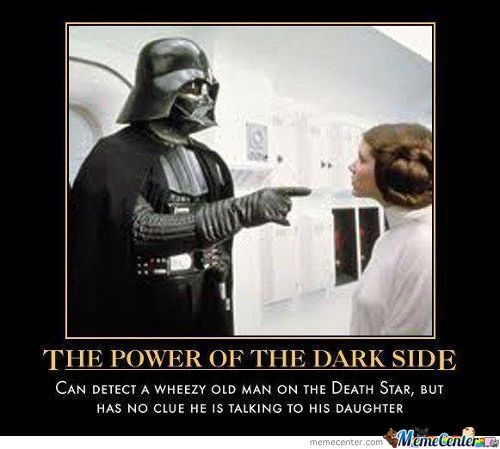 The Power Is Not So Strong On The Dark Side