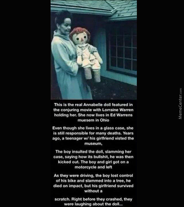 The Real Annabelle Doll