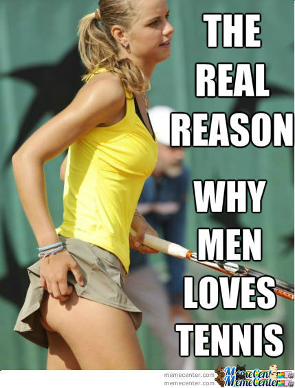 The Real Reason Why Men Loves Tennis