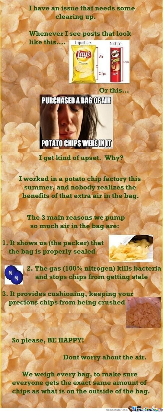 The Reason Your Bag Of Air Have Chips In It