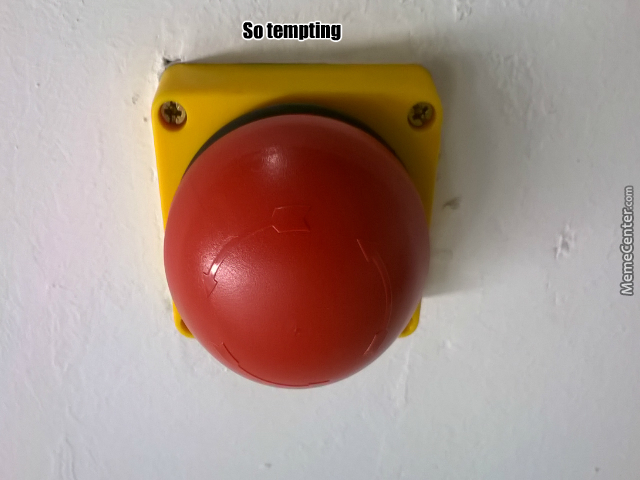 The Red Button by lucirby93 - Meme Center