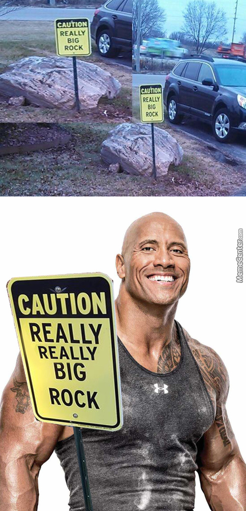 The Rock < The Boulder