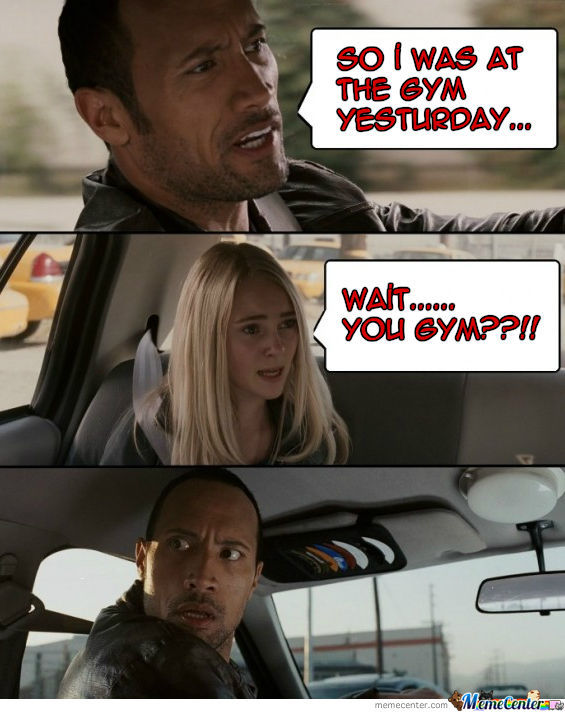 The Rock And Gym by francois07 - Meme Center