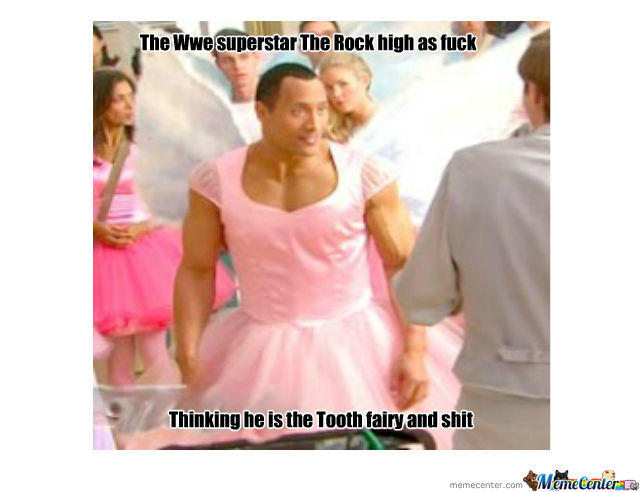 The Rock In A Manly Suit