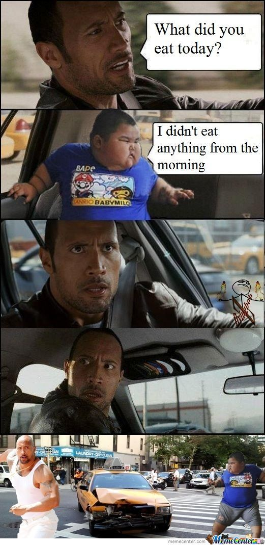 The Rock With The Chinese Fat Kid