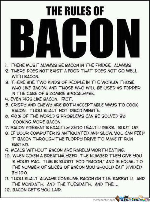The Rules Of Bacon Must Never Be Broken!!!!!!!!!!