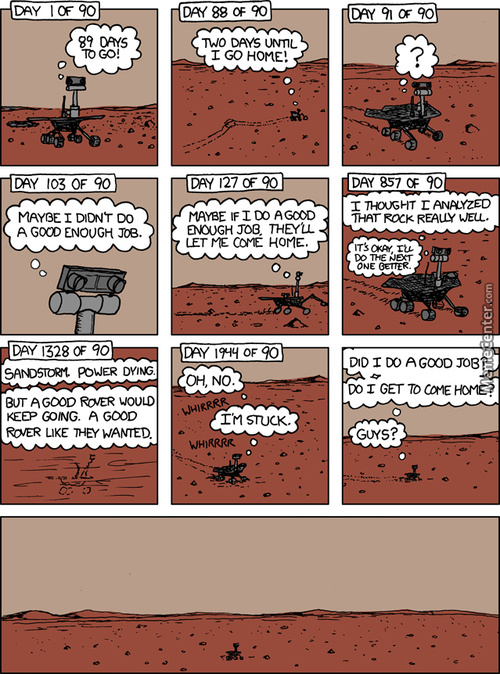 The Sad Life Of A Space Rover