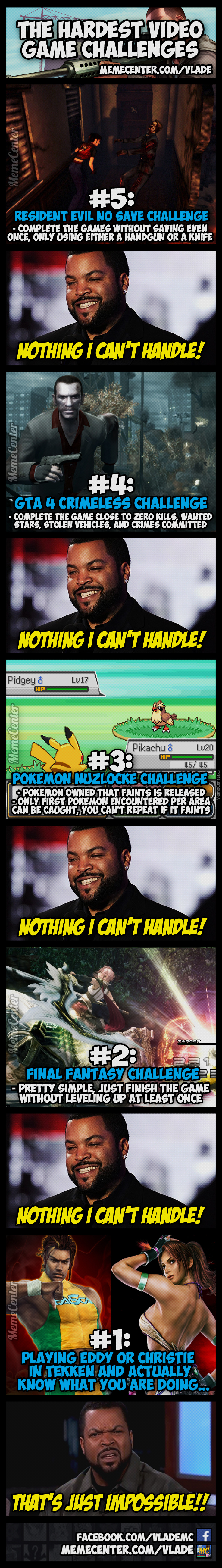 The Top 5 Video Game Challenges!