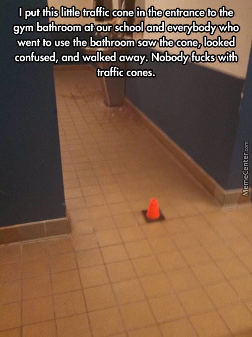The Traffic Cone, It Scares Me