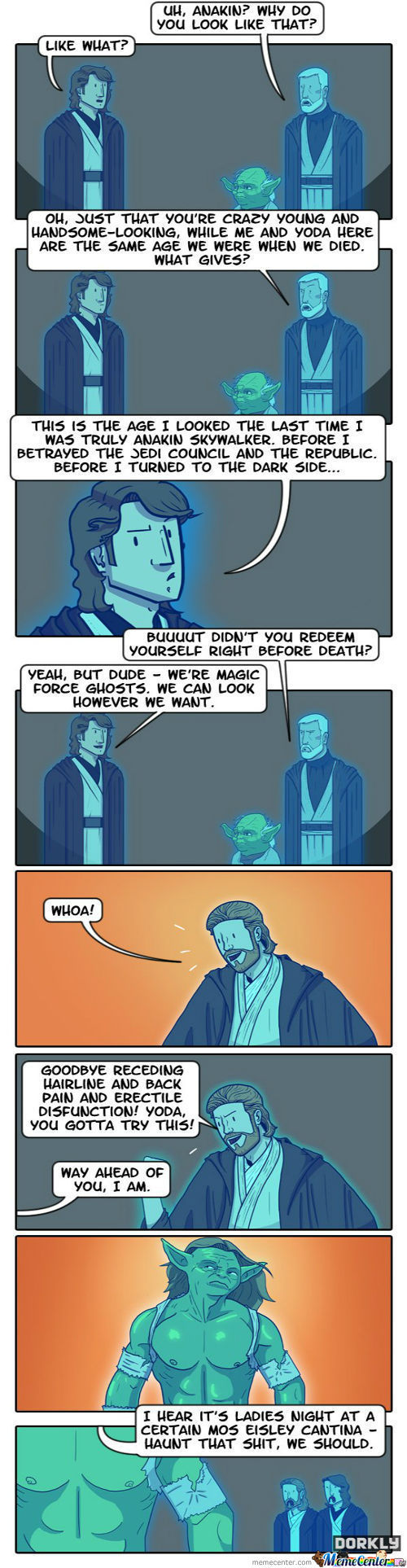 The True Power Of Force Ghosts (Dorkly)