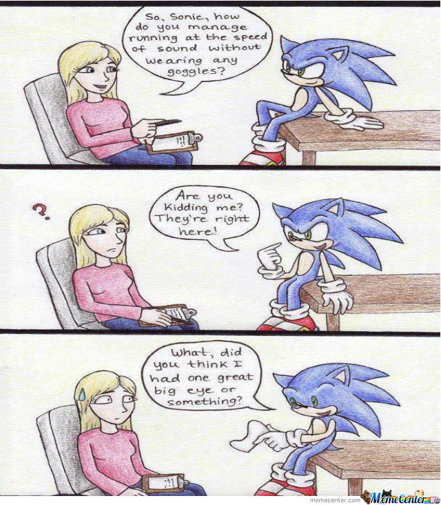 The Truth Of Sonic's Eyes....