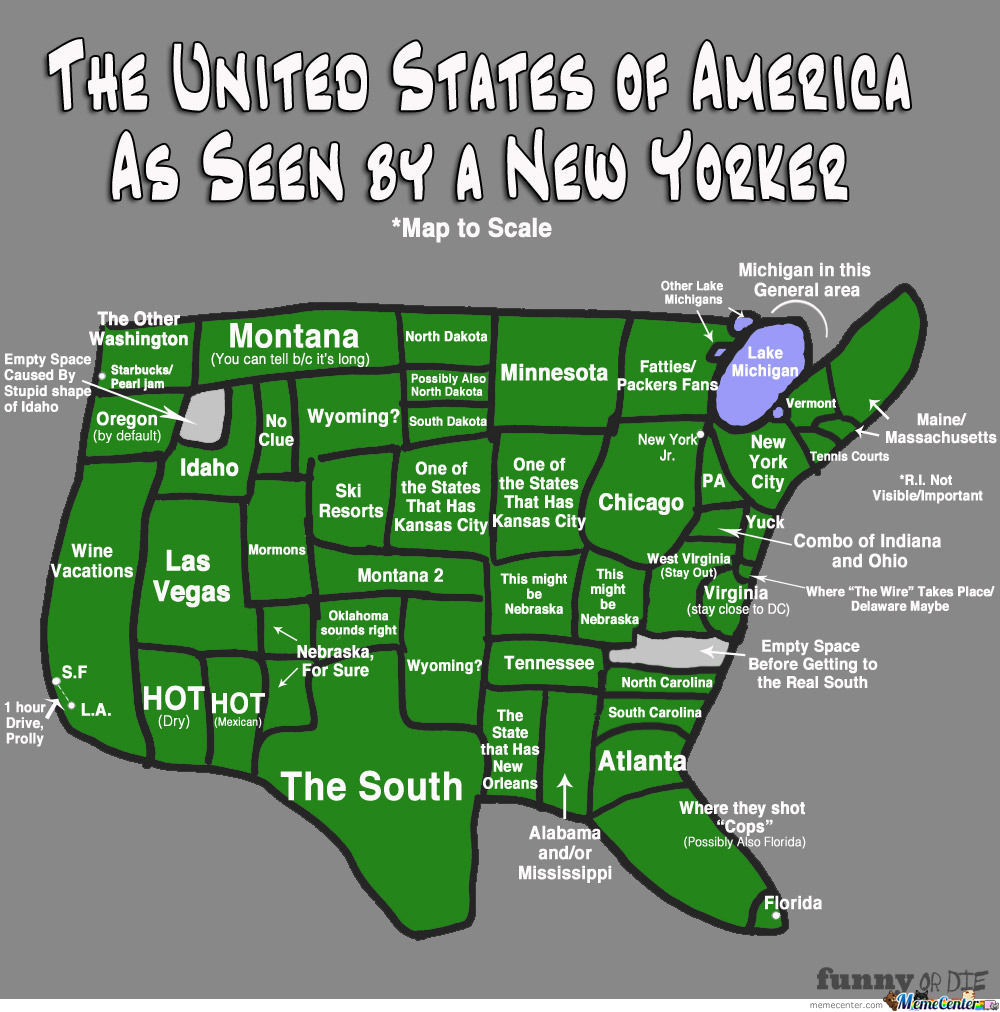 the united states of america as seen by a new yorker_o_1268435 the united states of america as seen by a new yorker by recyclebin