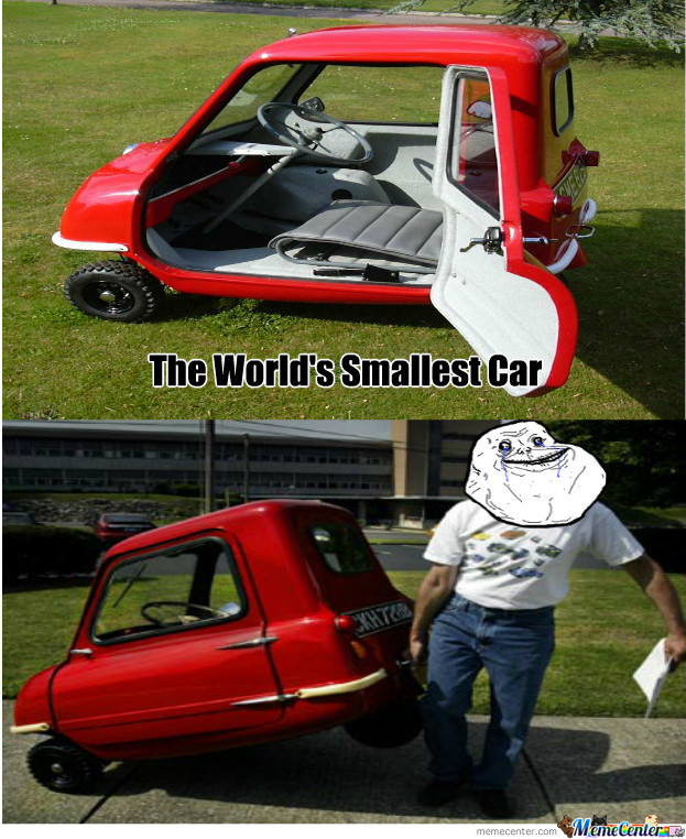 the world 39 s smallest car by recyclebin meme center. Black Bedroom Furniture Sets. Home Design Ideas
