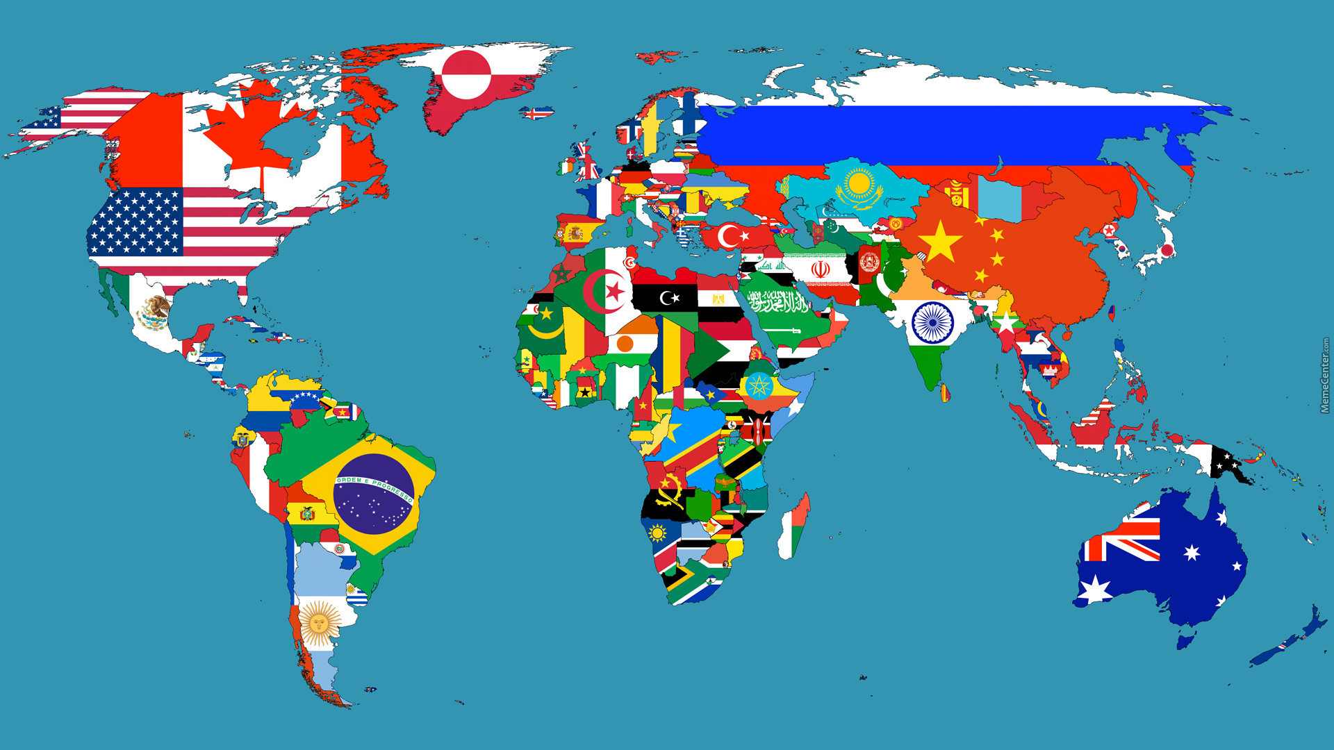 The world map in flags by multikawz meme center the world map in flags gumiabroncs Image collections