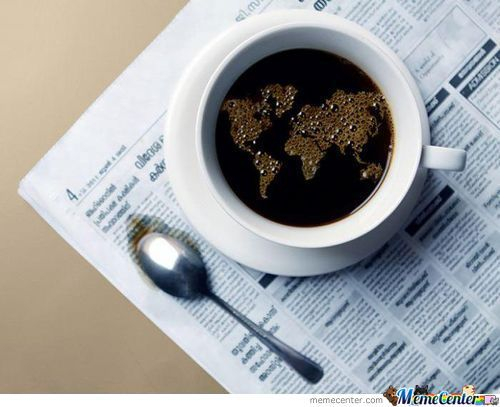 The World Map In My Coffee.