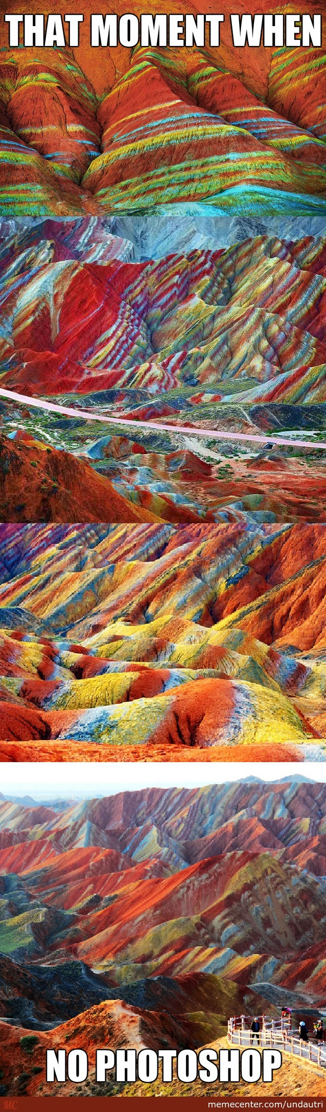 The Zhangye Danxia Mountains