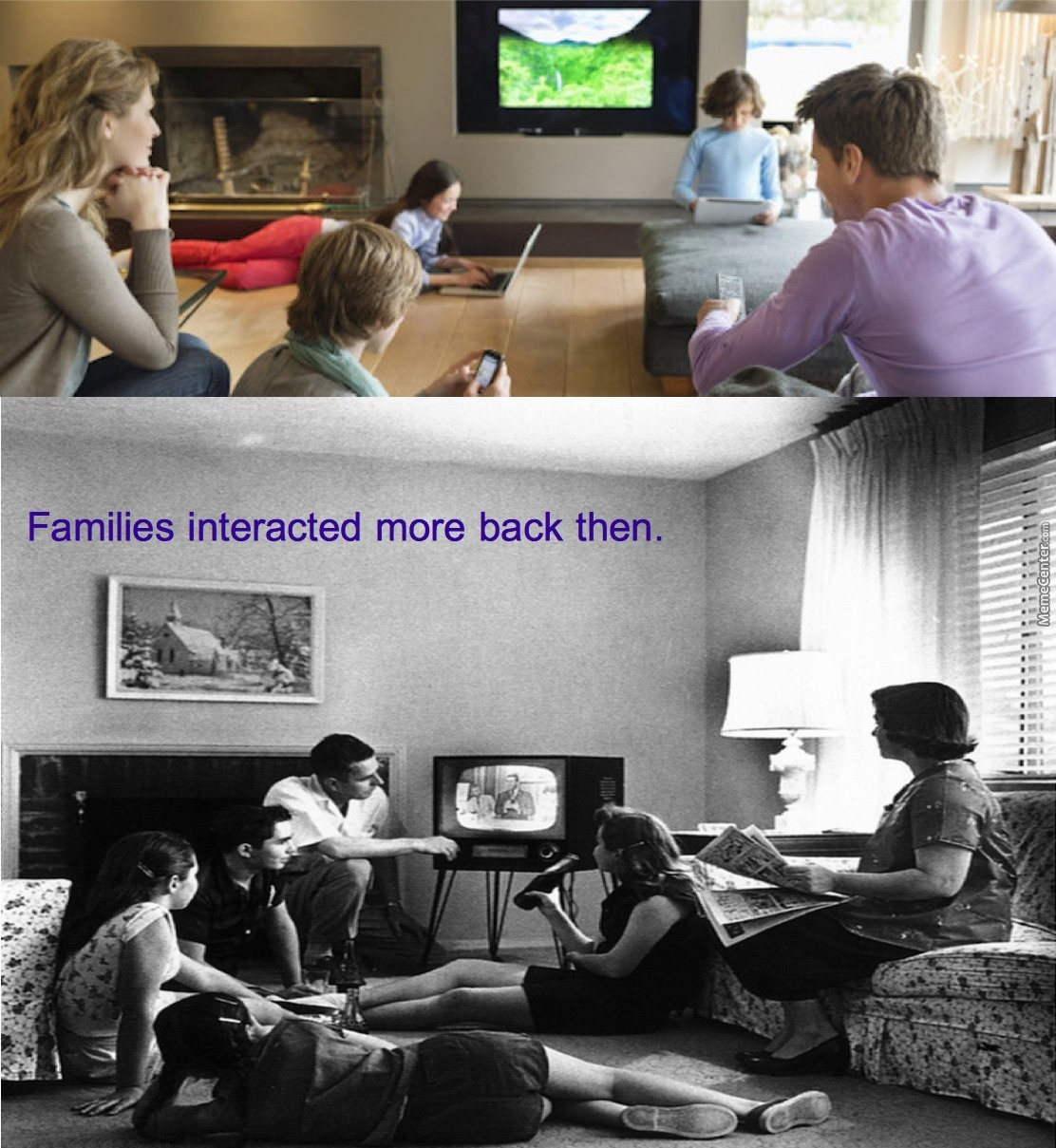 television then and now When i started in television, i was the youngest producer in town now, if you  were that age, you'd be running studios  then, it was abc, cbs and nbc  period.