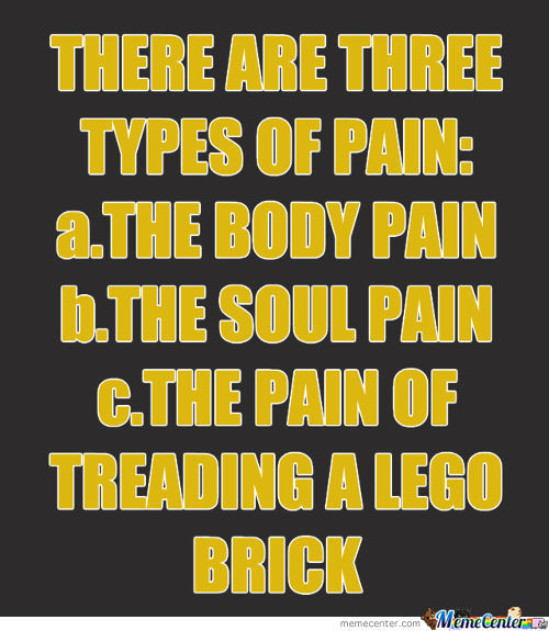 There Are Three Types Of Pain