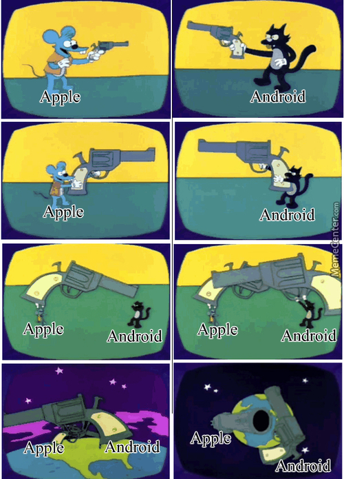 There Is No Other Image That Explains The Apple/android War Better Than This.