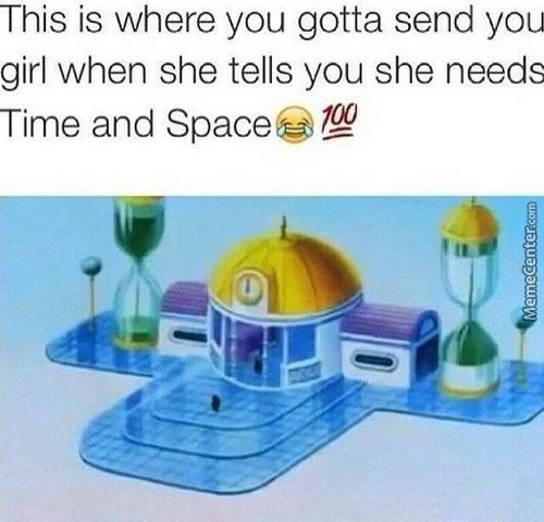 There She Has Time And Space