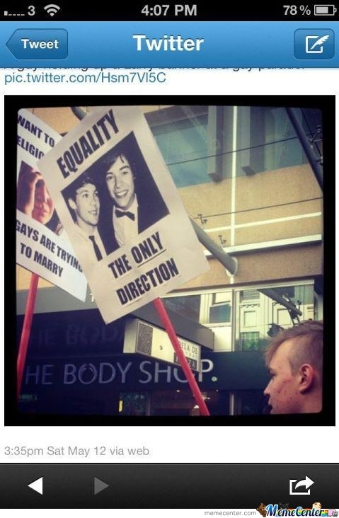 There's Only One Direction For Equality