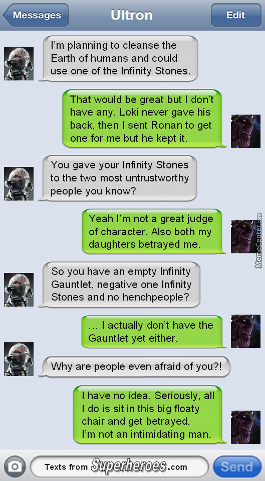 They Should Make A Whatsapp Group With The Marvel Characters