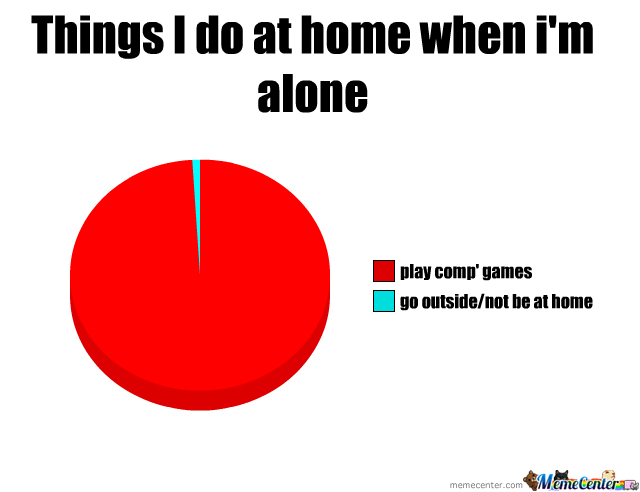 when i am alone at home essay