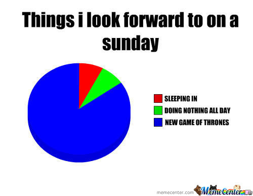 Things I Look Forward To On A Sunday