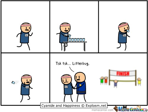 Think Twice Before Littering (Explosm.net)