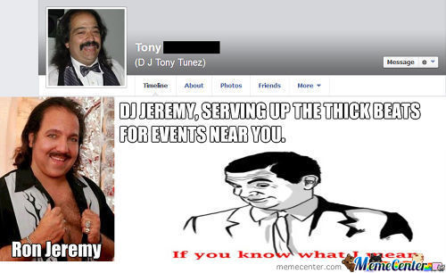 This Guy Dj'ed A Friends Party Today And We All Thought It Was Ron Jeremy
