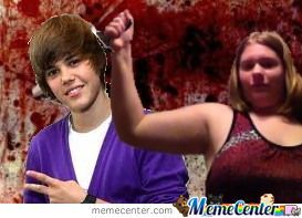 This Is A Pic I Took Of Me And Made It Look Like I'm Stabbing Beiber (I'm Not The Best Looking Person, Sorry.)