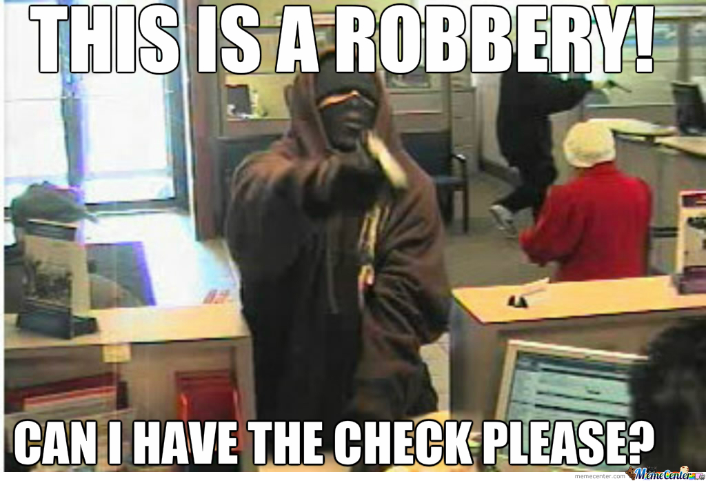 a robbery