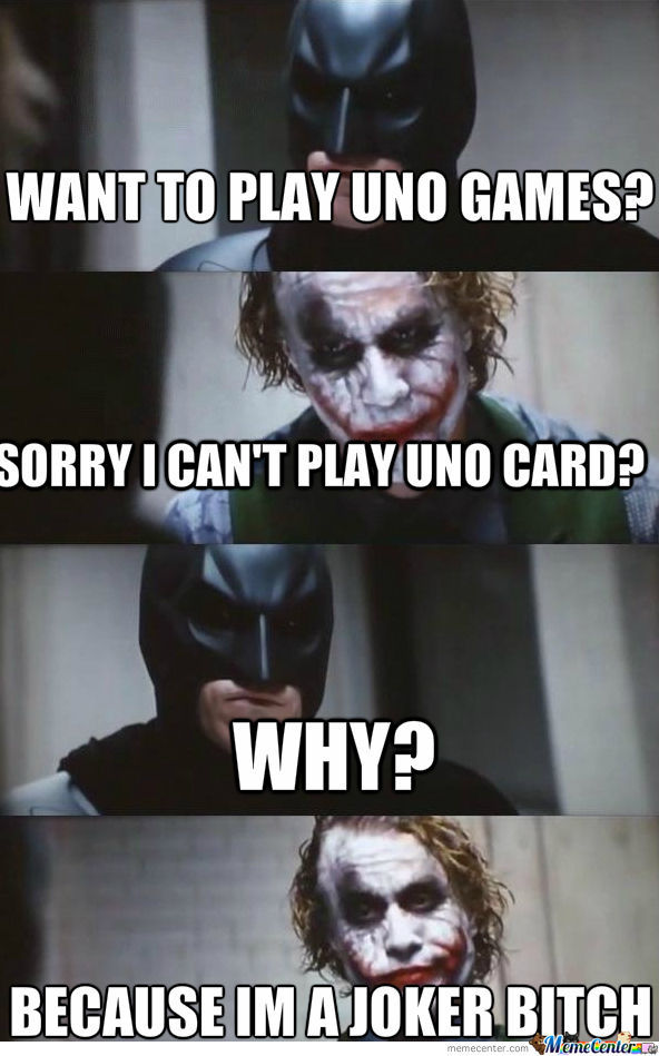This Is Because Joker Cant Play Uno Card