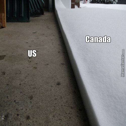 This Is How Some Imagine The Border Between The Us And Canada.