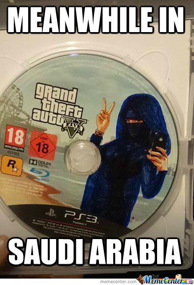 This Is How They Sell Gta V In Saudi Arabia.