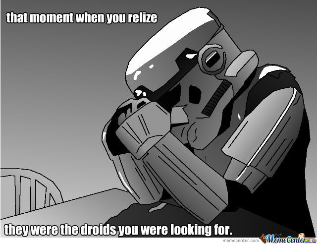 This Is Sad Storm Trooper That Failed