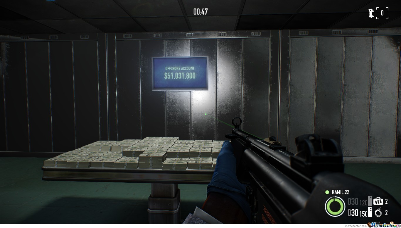 This Is What I Got After 18 Hours Straight Of Playing Payday 2.