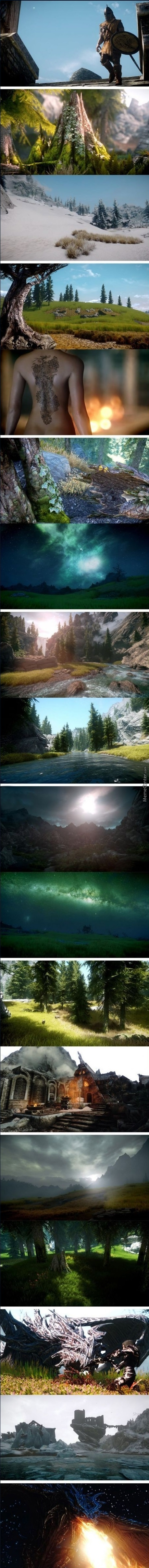 This Is What Skyrim Looks Like If You Run It At 100 M
