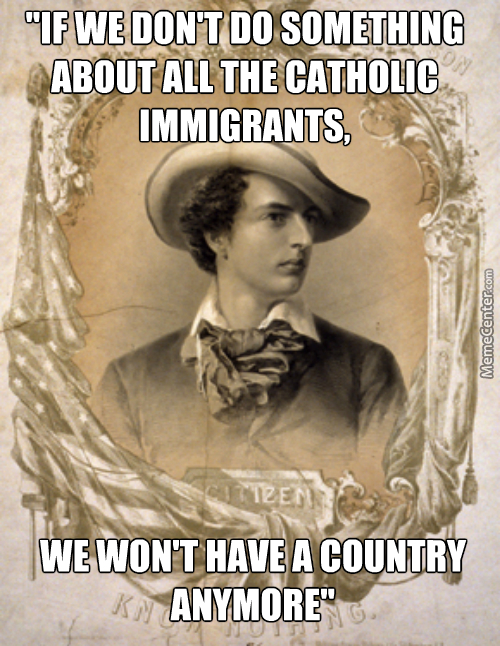 This Isn't The First Time A Political Party Only Focused On Stopping A Religious Group From Immigrating To America