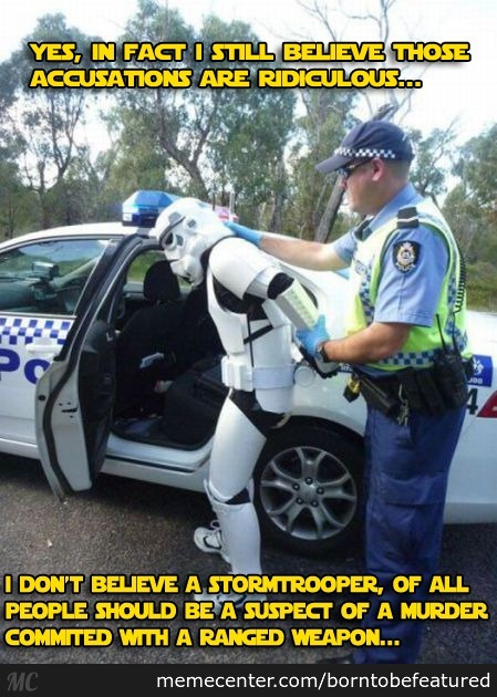 This Isn't The Suspect You're Looking For.
