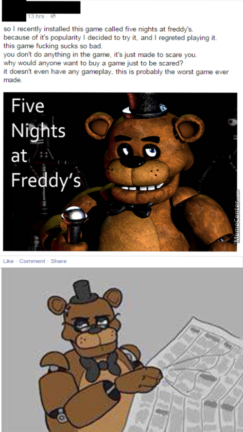 This Kind Of Stupidity Is Why Freddy Should Kill Us