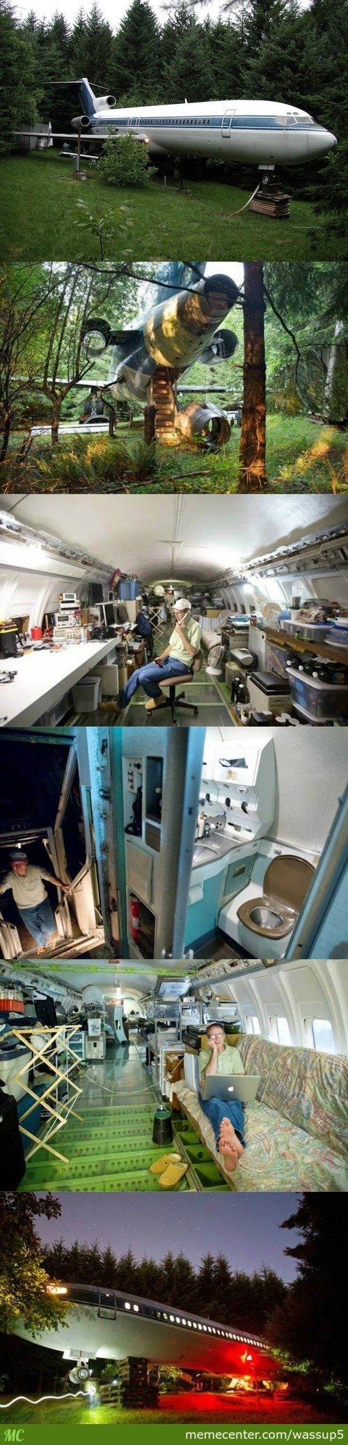 This Man Lives In An Airplane. The Most Amazing Is Inside!