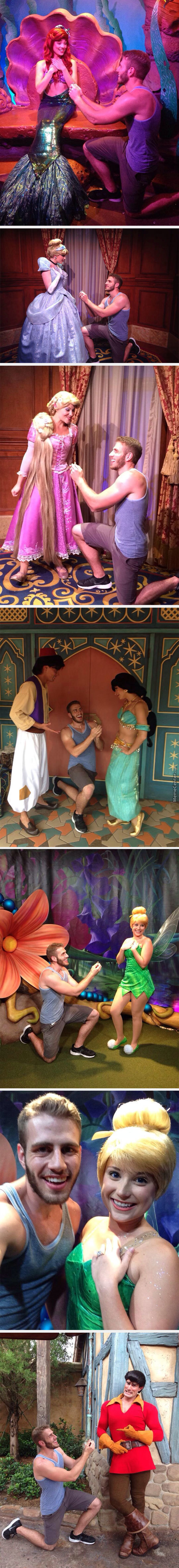 This Man Proposed To Disney Princesses