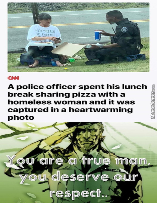 This Policeman Knows How To Do His Job Of Serving And Protecting.